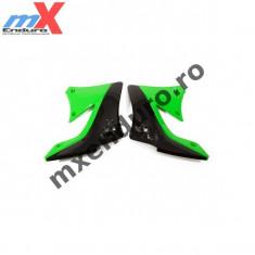 MXE Laterale radiator Kawasaki KXF450/10-11, culoare negru/verde Cod Produs: UF4713999AU - Pinioane Moto