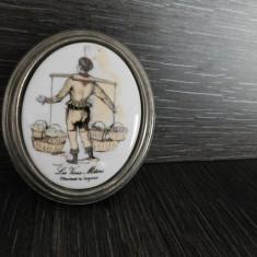 PORTELAN LIMOGES, TABLOU VINTAGE PICTAT MANUAL, SUPERB