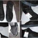 Adidasi ghete ZARA Vintage barbati marime 40 negri cu fermoar + cadou - Tenisi barbati Zara, Culoare: Negru