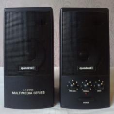 Quadral Allsonic SAM40P (SAM40A) Boxe 2.0 Stereo PC Laptop Egalizator - Boxe PC, 0-40W, Activa