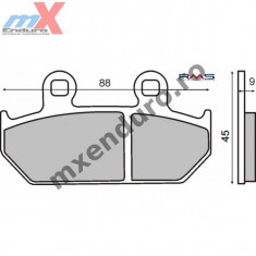 MXE Placute frana fata kevlar Honda Cod Produs: 225100701RM - Piese electronice Moto