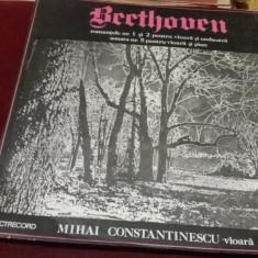 DISC VINIL BEETHOVEN ROMANTELE 1 SI 2 PENTRU VIOARA SI ORCHESTRA - Muzica Clasica