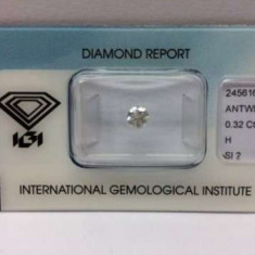 De vanzare diamant 0, 32 ct, Culoare H si claritate SI 2 - Inel de logodna