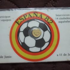 M. 100 pesetas 1980, Spania 1982, aur, Europa