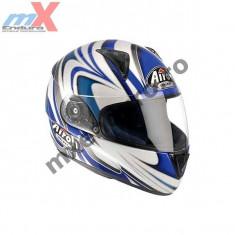 MXE Casca integrala Airoh Leox Splint, culoare alba/albastra Cod Produs: LXSP18 - Furca Moto