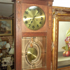 Ceas de perete, pendula antica Junghans perioada anilor 1900 Art-Deco