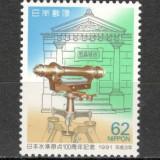 Japonia.1991 100 ani stabilirea punctului central ptr. masuratori KJ.379 - Timbre straine, Nestampilat