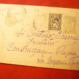 Carte Postala cu 20 Bani verde Ferdinand, stamp. de Ambulanta Agentia speciala