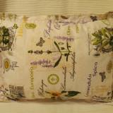 Pernuta decorativa bumbac imprimat Floare de Soare (lila) - Perna