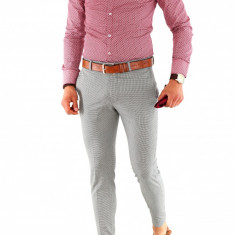 Camasa imprimeu - camasa barbati - camasa slim - camasa fashion - cod 8488, Marime: S, L, XL, XXL, Culoare: Din imagine, Maneca lunga