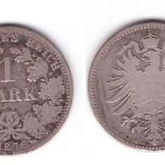 Germania 1876 - 1 mark A, Ag
