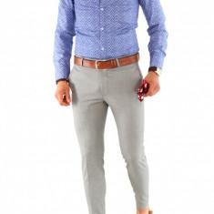 Camasa imprimeu  - camasa barbati - camasa slim - camasa fashion - cod 8492, L, M, S, XL, XXL, Maneca lunga, Din imagine