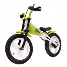 """Bicicleta Copii fara pedale cu frane 12"""" VerdePB Cod:588320036RM"""