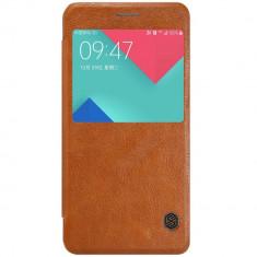 Flip Cover, Nillkin, Qin Series pentru Samsung Galaxy A3 (2017), Maro