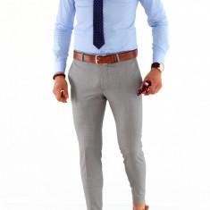 Camasa albastra - camasa barbati - camasa slim - camasa fashion - cod 8494, Marime: XL/XXL, Culoare: Din imagine, Maneca lunga