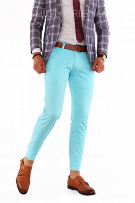 Pantaloni casual eleganti - pantaloni barbati slim fit office - 8498 foto