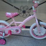 """Hello Kitty, Roz, bicicleta copii 14"""" (4-7 ani), Numar viteze: 1"""