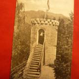 Ilustrata Tusnad - Turnul Apor, circulat 1922, stamp. de ambulanta Vatra-Dornei - Carte Postala Transilvania dupa 1918, Circulata, Printata
