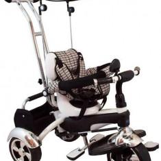 Tricicleta Multifunctionala Happy Days - Alb Baby Mix
