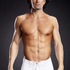 Boxeri albi SM - Lenjerie sexy barbati
