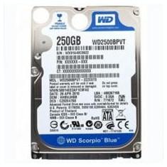 Hard Disk Laptop 250GB, S-ATA, 2.5 Inch, 3GB/s, 5400Rpm, diferite m