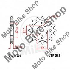 MBS Pinion fata 520 Z17, JTF512.17, Cod Produs: 7263221MA - Pinioane transmisie Moto