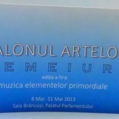 SALONUL ARTELOR, TEMEIURI, EDITIA A IV-A, MUZICA ELEMENTELOR PRIMORDIALE
