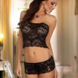 Set Lilianne Negru L/XL - Lenjerie sexy femei