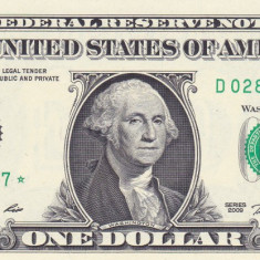 Bancnota Statele Unite ale Americii 1 Dolar 2009 - P530 UNC (replacement - star) - bancnota america