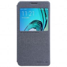 Flip Cover, Nillkin, Sparkle leather pentru Samsung Galaxy A5 (2017), negru