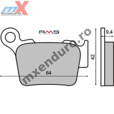 MXE Placute frana standard spate Ktm Cod Produs: 225100750RM - Manete Ambreiaj Moto