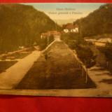 Ilustrata Slanic Moldova - Vedere generala a Parcului - Ed.Libr.Iliescu, Iasi - Carte Postala Moldova dupa 1918, Circulata, Printata