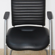 3 Buc. Scaun de birou din piele Sitland; Fotoliu conferinta