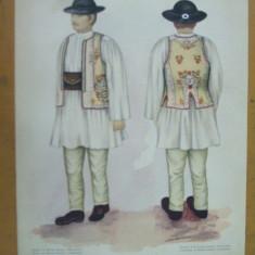 Bistrita - Nasaud Transilvania costum popular taran ie palarie vesta chimir - Carte Arta populara