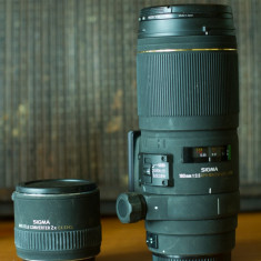 Sigma 180 mm 3.5 macro + tele convertor 2x, montura canon - Obiectiv DSLR