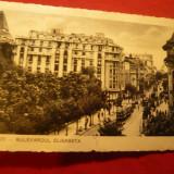Ilustrata Bucuresti - Bdul Elisabeta, circulat 1935, Ed.Socec - Carte Postala Muntenia dupa 1918, Circulata, Fotografie