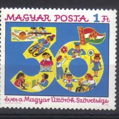 UNGARIA 1976, Aniv. - 30 de ani - Organizatia de pioneri, MNH, serie neuzata - Timbre straine, Nestampilat