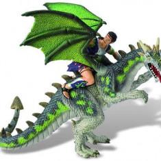 Figurina - Luptator pe dragon verde - Figurina Animale Bullyland