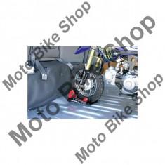MBS Suport roata fata DRC Moto Binding, pentru roti de 8-21, latime maxima 130mm, negru/rosu, Cod Produs: DF3651101AU - Elevator motociclete