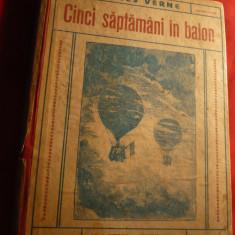 Jules Verne - Cinci saptamani in balon ,Ed.Cugetarea ,interbelica , trad.Ion Pas