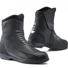 MXE Cizme moto piele TCX, X-Ride WP, negru