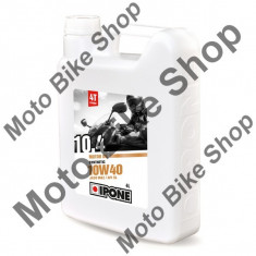 MBS Ulei moto 4T Ipone 10.4 (10W40) Sintetic - JASO MA2 - API SL, 4L, Cod Produs: 800054IP - Ulei motor Moto