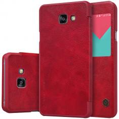 Flip Cover, Nillkin, Qin Series pentru Samsung Galaxy A3 (2017), Rosu