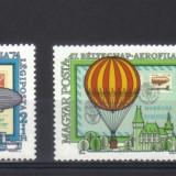 UNGARIA 1974, Aerophila'74, Aviatie, serie neuzata, MNH - Timbre straine, Nestampilat