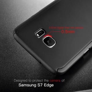 360 full body carcasa + folie pt Samsung Galaxy S7 Edge husa protectie maxima