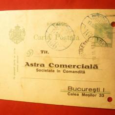 Carte Postala comerciala Astra Comerciala, stampila Mateuti-Bai 1930 - Carte postala tematica, Circulata, Printata