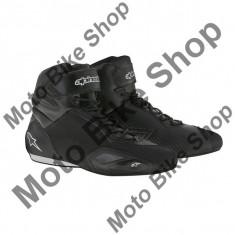 MBS Ghete moto Alpinestars Faster 2, negru, 9=42, Cod Produs: 2510216109AU - Cizme Moto
