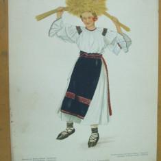 Bistrita - Nasaud Transilvania costum popular taranca spice grau ie fusta opinci