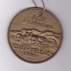 Placheta / Medalie Mare Acr - Automobil Clubul Roman - etapa Cluj-Feleac 1971