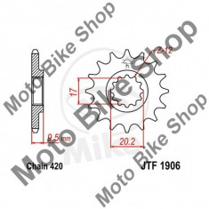 MBS Pinion fata 420 Z15, JTF1906.15, Cod Produs: 7260223MA - Pinioane Moto